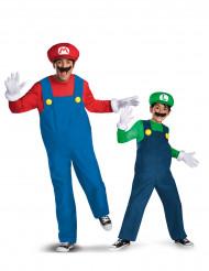 Disfraz de pareja Mario™ y Luigi™ padre e hijo