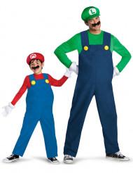 Disfraz de pareja de de Luigi™ y Mario™ padre e hijo