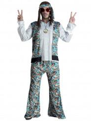 Disfraz hippie azul psicodélico hombre