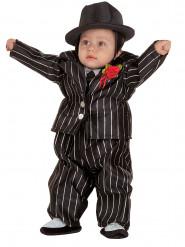 Disfraz mini mafioso bebé