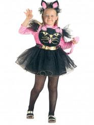 Disfraz de gato para niña rosa y negro