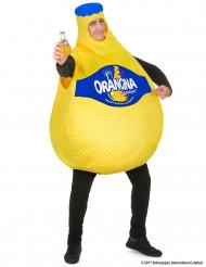 Disfraz botella de Orangina™ para adulto