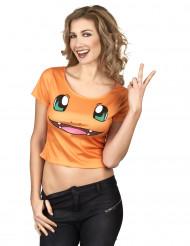 Camiseta de dragón flamante mujer