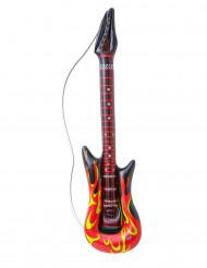 Guitarra rock en llamas hinchable 105 cm