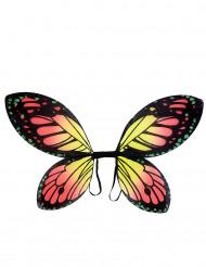 Alas de mariposa multicolor niña