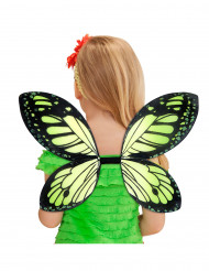 Alas negras y verdes de mariposa para Niña