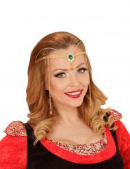 Diadema elfo dorado adulto