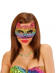 Antifaz sexy leopardo multicolor mujer