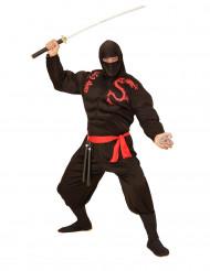 Disfraz de ninja musculoso negro adulto