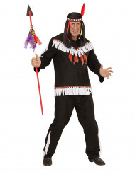 Disfraz indio negro y blanco hombre