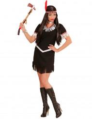 Disfraz de indio negro y blanco mujer