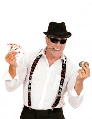 Tirantes jugador de póker adulto