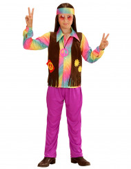 Disfraz de hippie para niño colores vivos