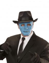 Máscara anónima azul