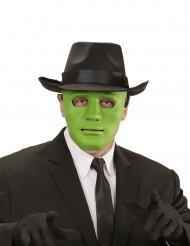 Máscara anónima verde adulto
