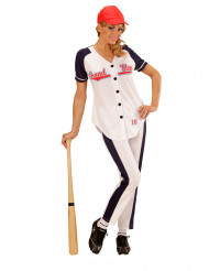 Disfraz jugadora béisbol mujer
