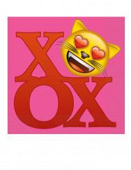 20 Servilletas papel Emoji™ 33x33 cm