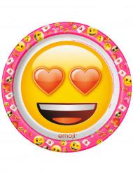 8 Platos de cartón Emoji™ 22 cm