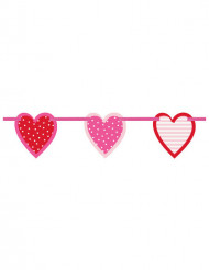 Guirlanda corazones 196 cm