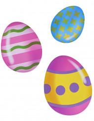 6 Decoraciones de cartón huevos de Pascua