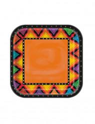 8 Platos de cartón México 22 cm