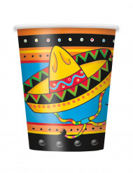 8 Vasos de cartón México