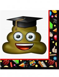 16 servilletas de papel Emoji™