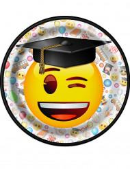 8 platos de postre de cartón Emoji