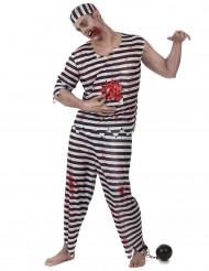 Disfraz de preso zombie hombre