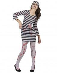 Disfraz de prisionera zombie mujer