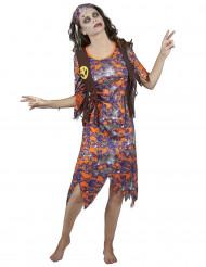 Disfraz de Zombie Hippie Mujer