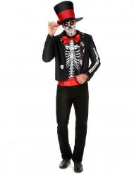 Disfraz de esqueleto Día de los Muertos hombre