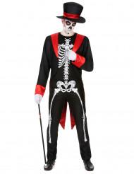 Disfraz de esqueleto chic hombre