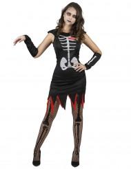 Disfraz de esqueleto corazón mujer
