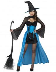Disfraz de bruja azul mujer
