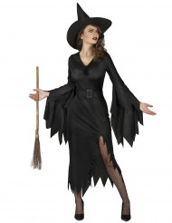 Disfraz de bruja negra sexy mujer