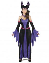 Disfraz de maléfica violeta mujer