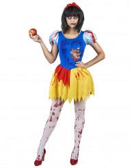 Disfraz de princesa envenenada zombie mujer