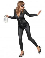 Disfraz de ladrona enmascarada sexy mujer
