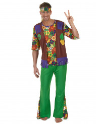 Disfraz hippie flower power hombre