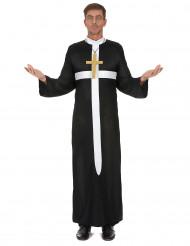 Disfraz de cura cruz blanca hombre