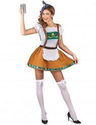 Disfraz de bávara marrón mujer