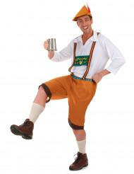Disfraz bávaro marrón hombre