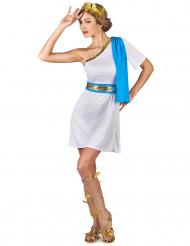 Disfraz emperatriz griega azul mujer