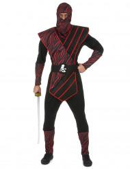 Disfraz de ninja rojizo hombre