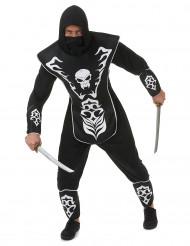 Disfraz de ninja esqueleto hombre