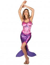 Disfraz de sirena rosa mujer