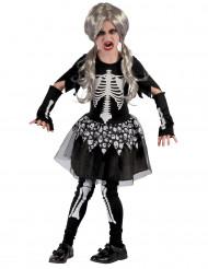 Disfraz de esqueleto vivo niña
