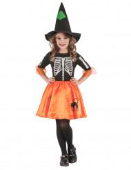 Disfraz de bruja esqueleto niña