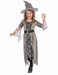 Disfraz de bruja color gris para niña